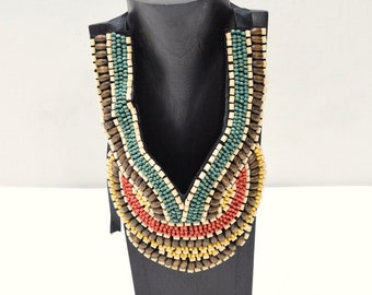 Necklace Indonesian Color Beaded Collar Necklace