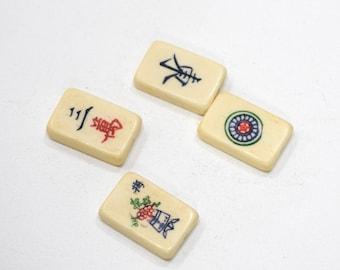 Beads Chinese Bone Mahjong Tile Rectangular Beads 25mm