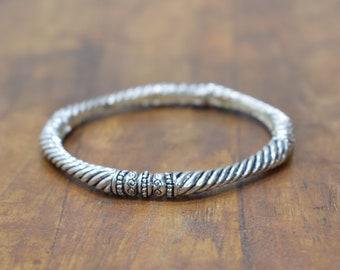 Bracelet Plated Silver Stretch Bangle Bracelet