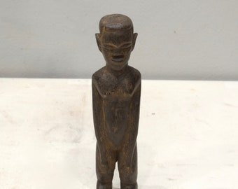 African Lobi Wood Statue Female Burkina Faso Ceremonial Lobi Statue