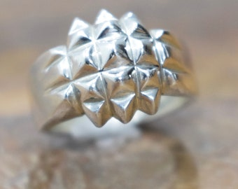 Ring Sterling Silver Spiked Ring