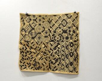 African Kuba Cloth Natural Woven Raffia