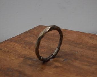 Chinese Bracelet Miao Diamond Twist Silver Bangle A