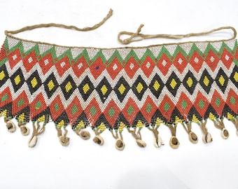 African Old Beaded Kirdi Modesty Sex Apron