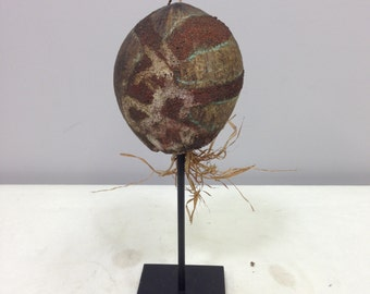 Papua New Guinea Coconut Head Marupai Healing Sickness Painted Coconut Head