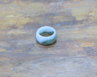 Ring Chinese Light Olive Green Nephrite Jade Band Ring