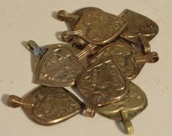 Beads 1980 Kuchi Heart Pendants