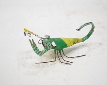African Folk Art Toy Scorpion Recycled Tin Can Scorpion Tanzania Toy Scorpion
