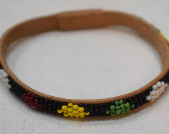 African Bracelets Beaded Colorful Bangles Mali