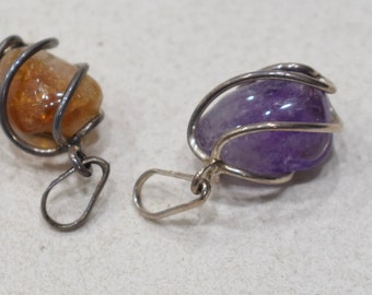 Beads Sterling Silver Agate Pendants 26mm