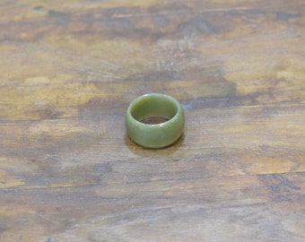 Ring Green Nephrite Jade Band Ring