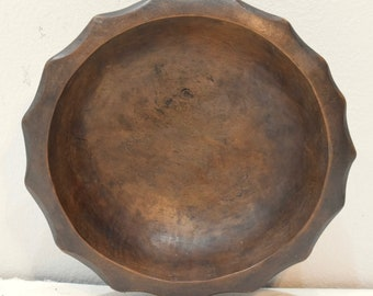 Philippines Ifugao Star Bulul Burnished Wood Ritual  Bulul Star Bowl