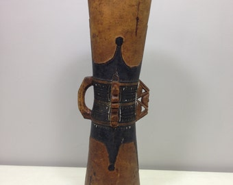 Papua New Guinea Drum Siassi Wood Carved Musical Dancing Tribal Drum
