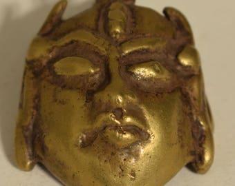 Nagaland Pendant Brass Trophy Northen India Tribal Status Men Brass Pendant
