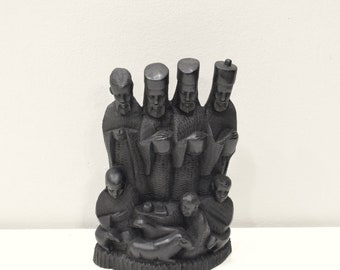 African Statue Nativity Relief Ebony Wood Christmas Nativity Tanzania