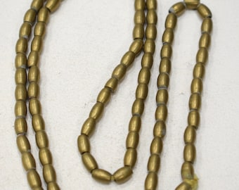 Beads Indonesian Brass Oval Beads 8mm