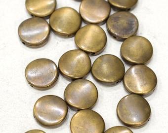 Beads Bronze Plastic Plated Round Beads 15mm