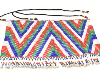 African Zulu Beaded Apron Woman Beaded Apron
