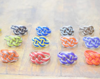 Rings African Colorful Telephone Wire Woven Rings
