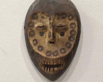 African Mask Lega Bwami Society Mask Congo