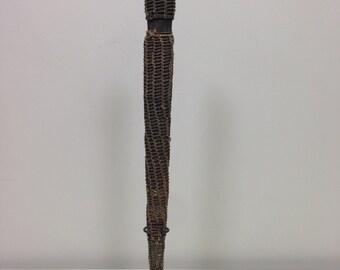 Papua New Guinea Dagger Iatmul Wood Woven Orchard Stem Ceremonial Payback Wood Dagger