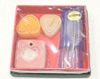 Incense Holder Pink White Ceramic Heart Incense Sets