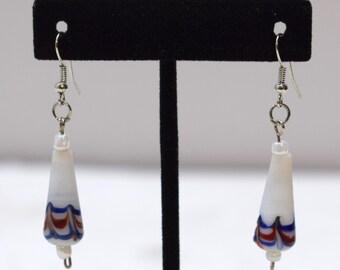 Earrings Hand Blown Glass Teardrop Dangle Earrings 48mm