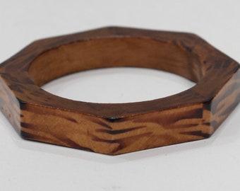 Bracelet Bangle Wood African Zebra Stripe Print Bangle Bracelet