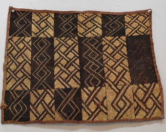 African Kuba Cloth Natural Woven Raffia