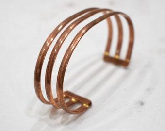Bracelet 3 Band Copper Adjustable Healing Cuff Bracelet