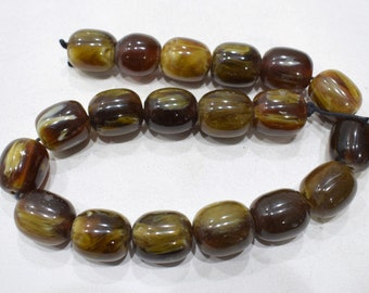Beads India Resin Brown Beads 23-24mm