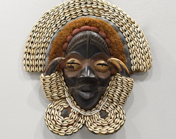 Featured listing image: African Mask Dan Burnished Wood Mask
