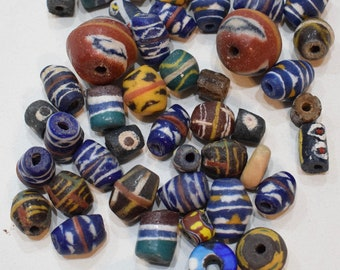 Beads African Sandcast Assorted Bag Vintage Beads 12-26mm