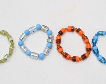 Bracelets Beaded Stretch Assorted Glass