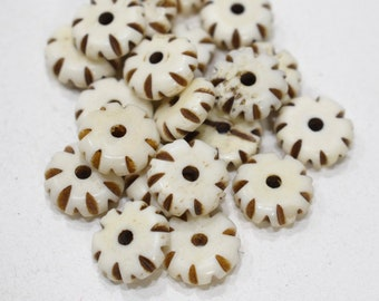 Beads Indonesian Bone Disc Beads 10mm