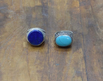 Rings Lapis Turquoise Afghanistan Rings 22mm