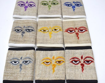 Wallets Assorted Embroided Hemp OM Wallets