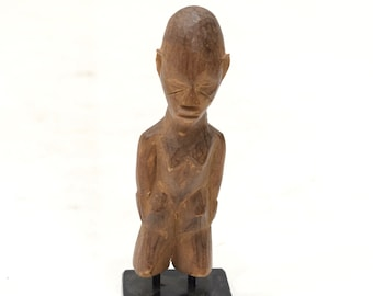African Lobi Wood Fetish Statue Female Burkina Faso Ceremonial Lobi Statue
