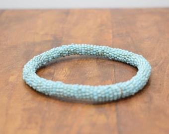 Bracelet Beaded Turquoise Blue Bead Bangle Bracelet
