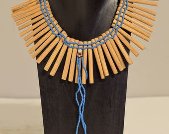 African Xhosa Nursing Mother's Wood Charm Necklace Mother Baby Jewelry Nursing Necklace