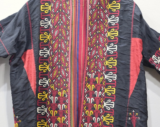 Featured listing image: Coat Black Turkmen Embroidered Coat