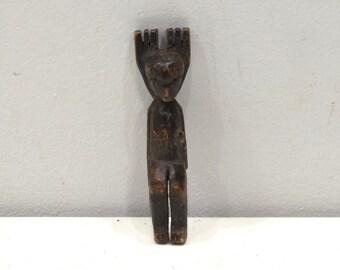 Slingshot Mayan Carved Wooden Monkey Soldier Guatemala Slingshot