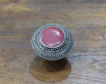 Ring Afghanistan Red Round Ring 34mm