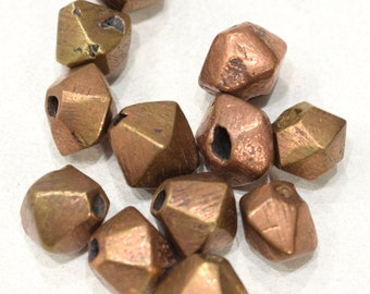 Beads African Bicone Copper Beads 16-18mm