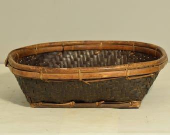 Basket Philippines Ifugao Winnow Rice Tray Rattan Ifugao Handmade Woven Rattan Bamboo Rice Tray