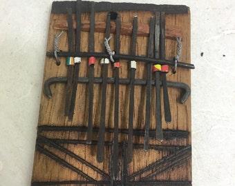 African Kalimba Piano Wood Small Thumb Piano