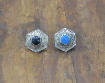 Rings Black Onyx Turquoise Afghanistan Rings 34-38mm