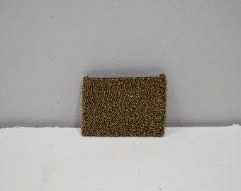 Purse Beaded Bronze Small Clutch Purse