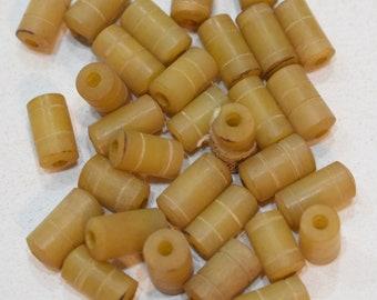 Beads Indonesian Glass Yellow Beads 12-14mm