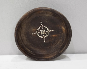 Bowls Indonesian Old Teakwood Mother of Pearl Inlay Bowl